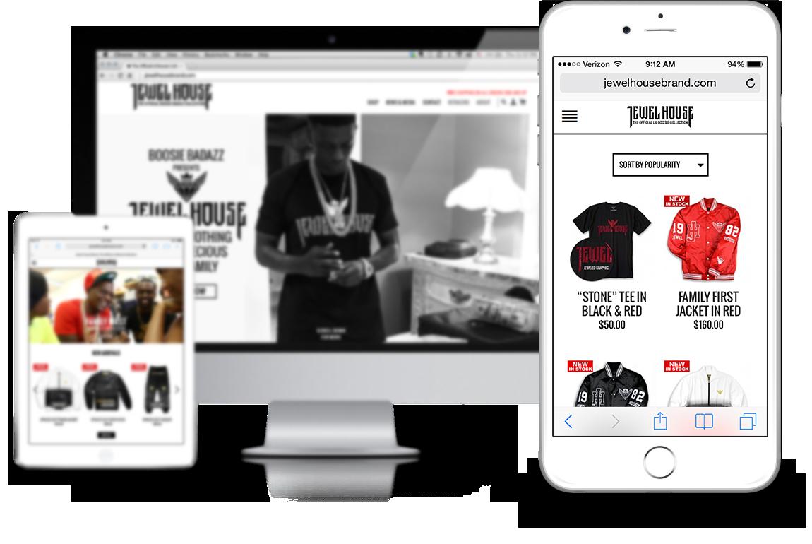 jewel house by lil boosie aka boosie badazz responsive woocommerce website design