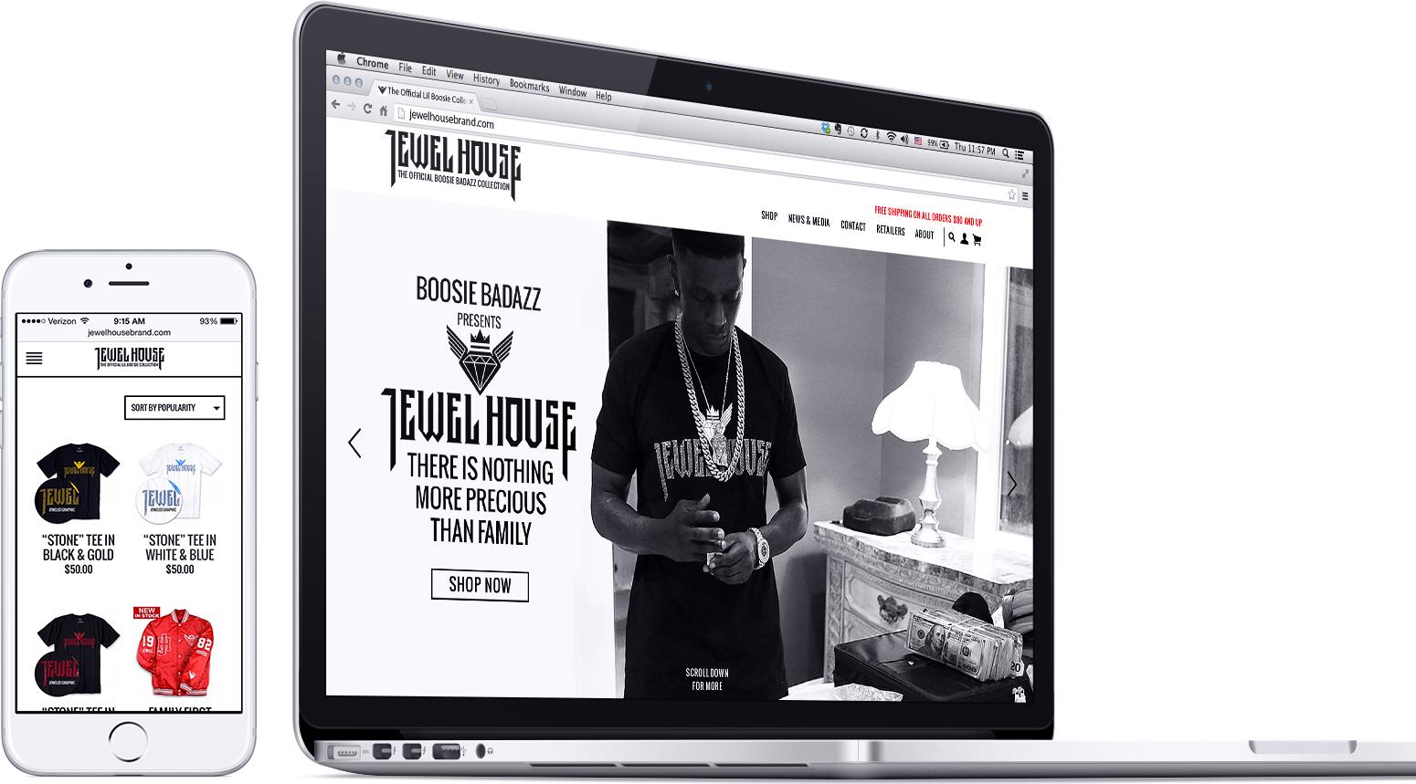 jewel house woocommerce website responsive design