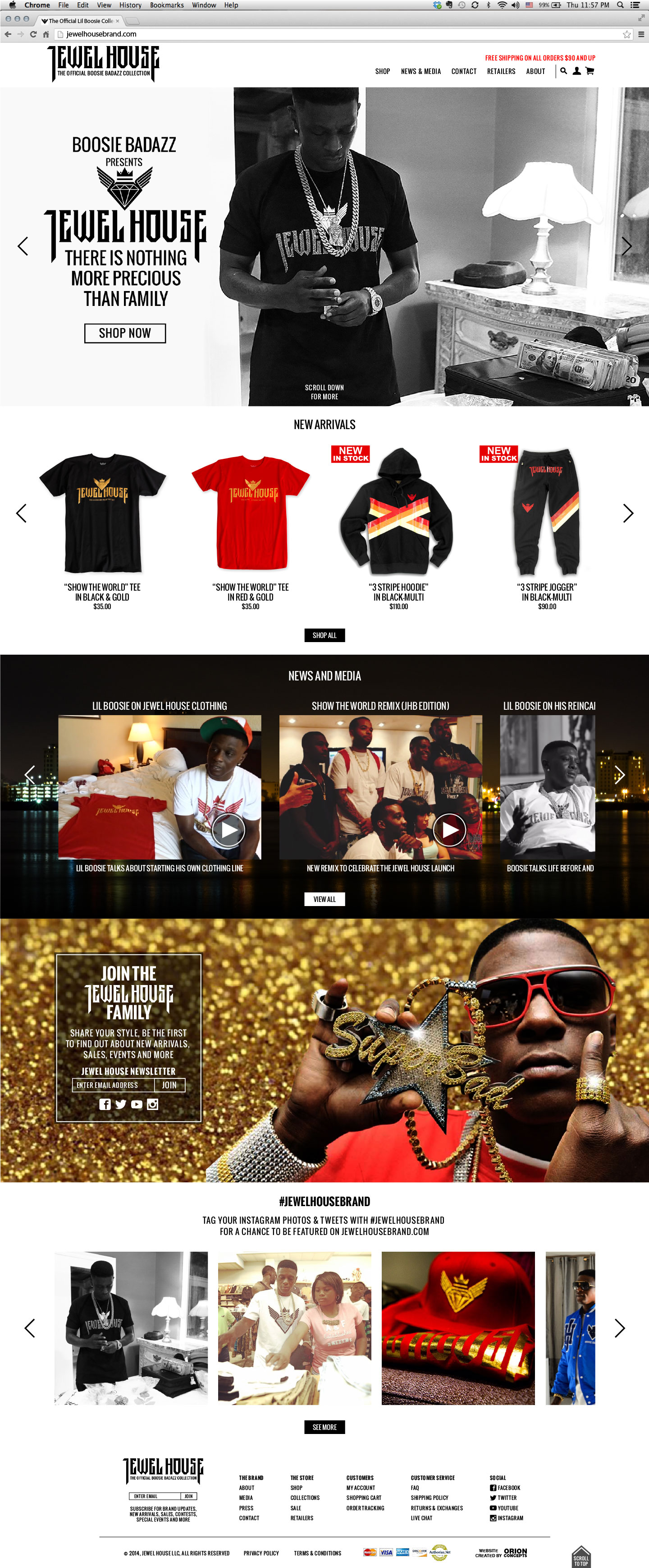 jewel house website home page