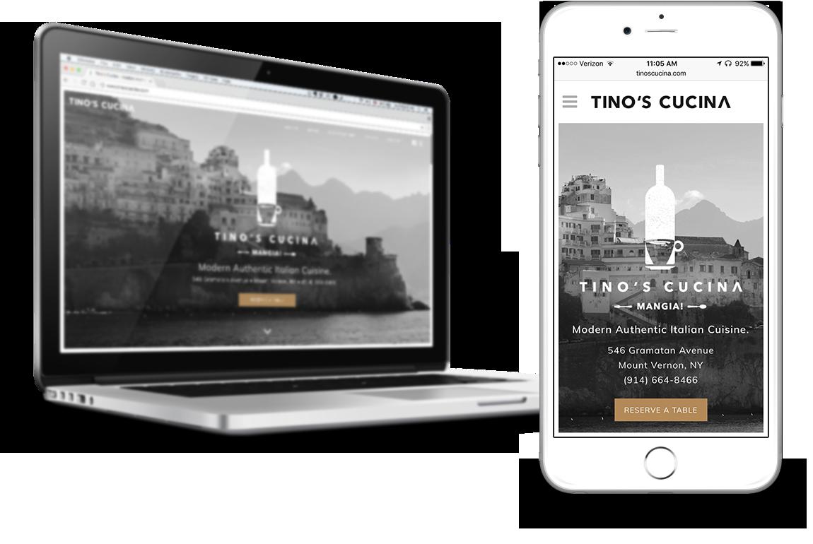 tino's cucina responsive wordpress website design