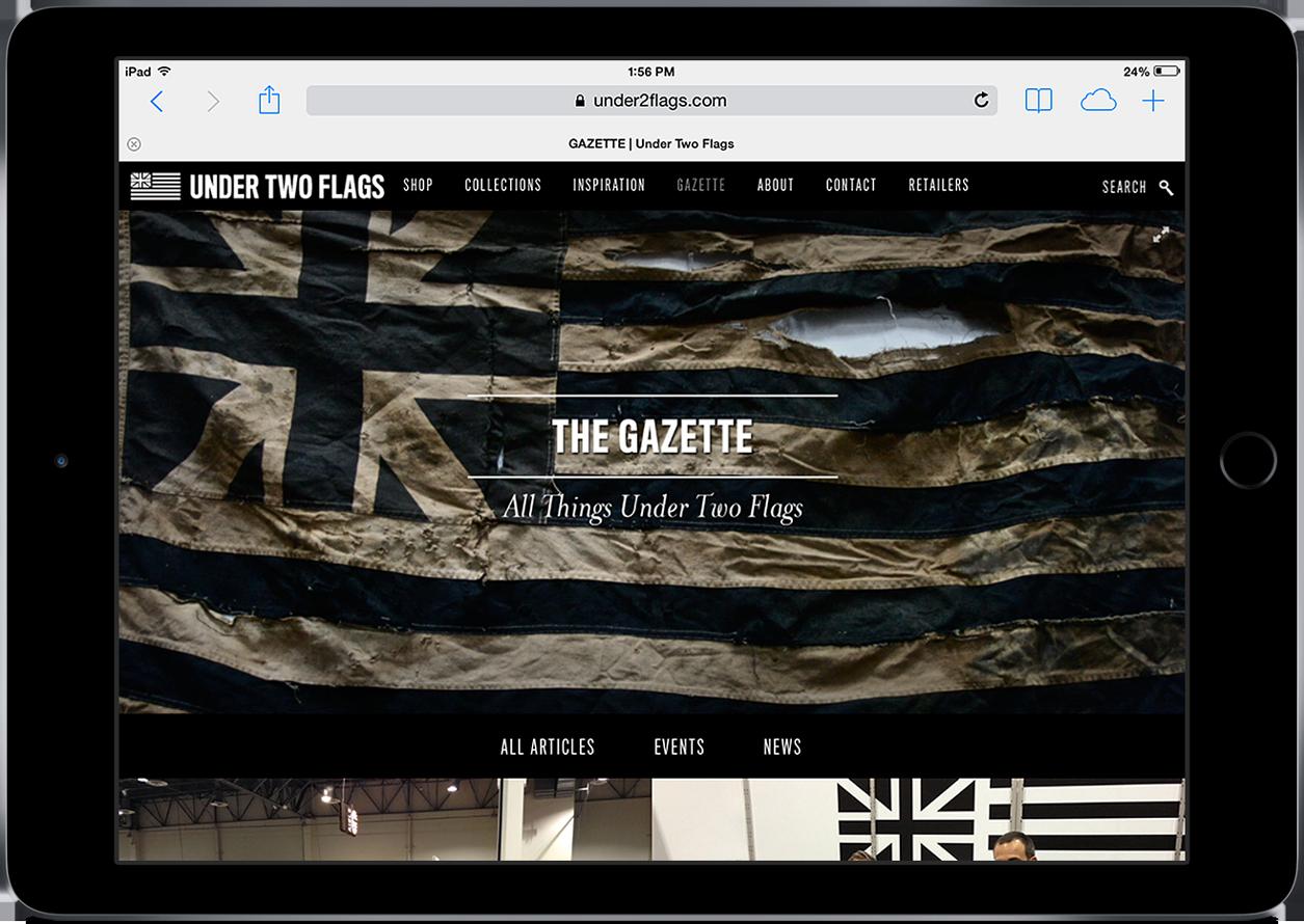utf under two flags website ipad