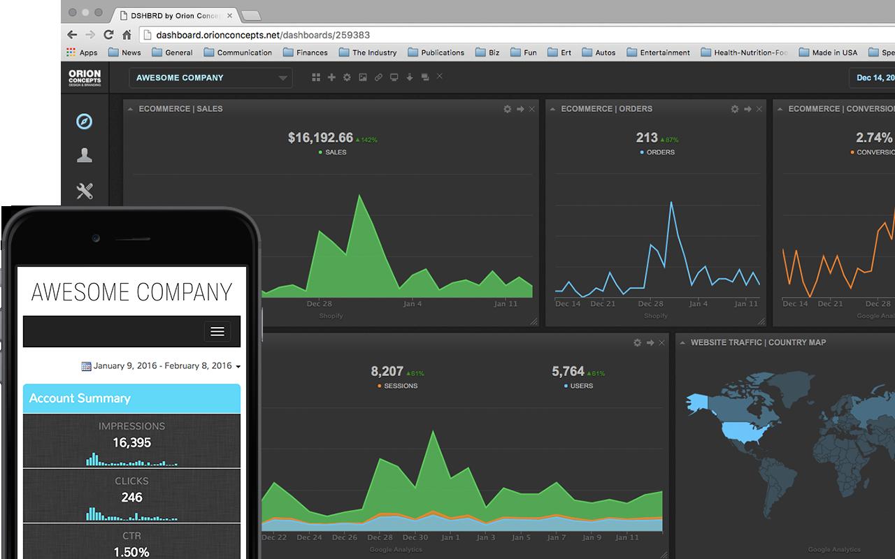 digital marketing data reporting dashboards