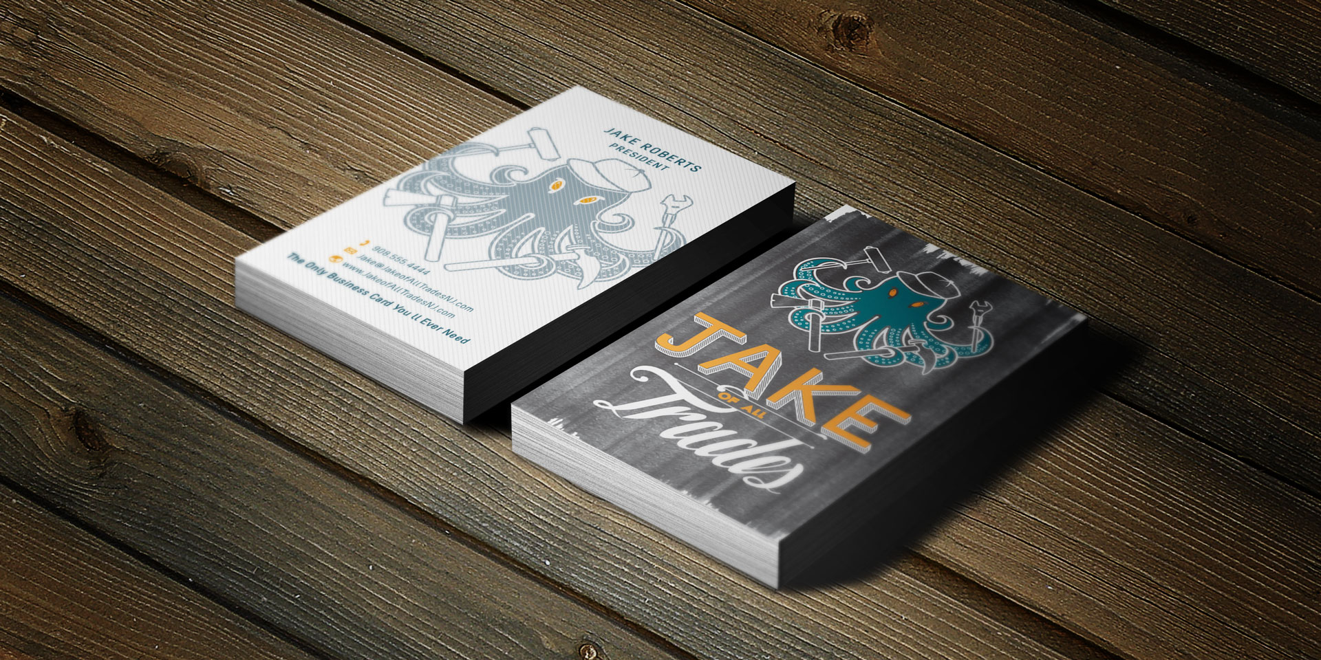 jake of all trades business cards