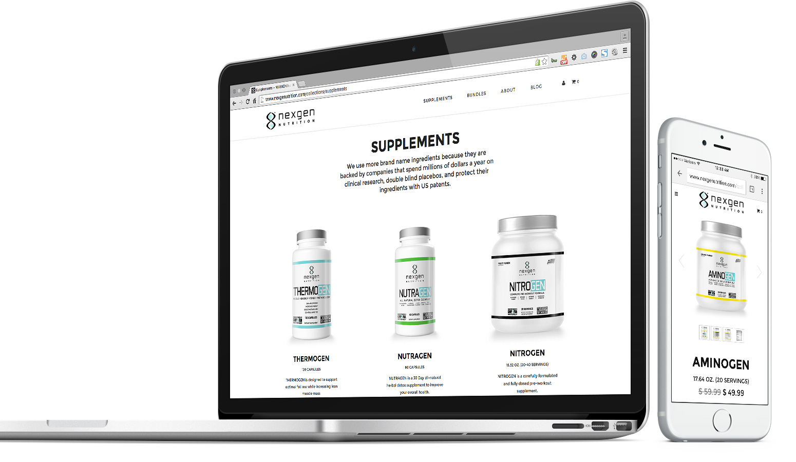 nexgen nutrition website on apple devices