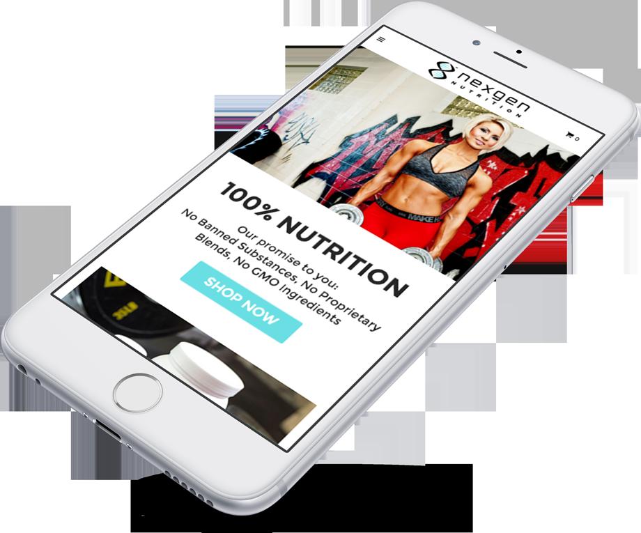 nexgen mobile responsive web design on iphone 6
